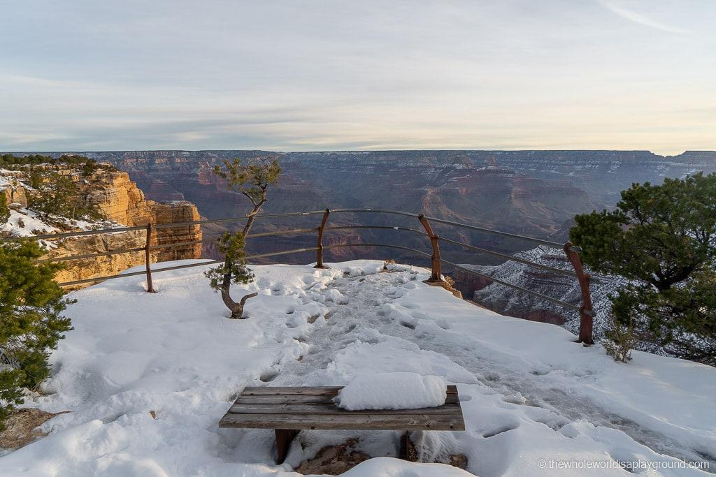 Navajo Point Grand Canyon Snow Sunrise