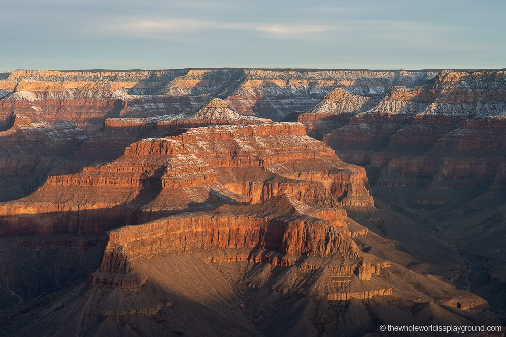 Sunrise at Grand Canyon in Winter