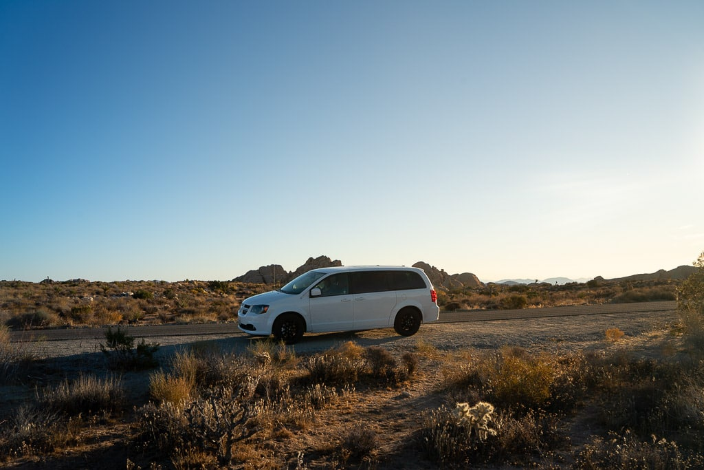 Driving in Joshua Tree National Park