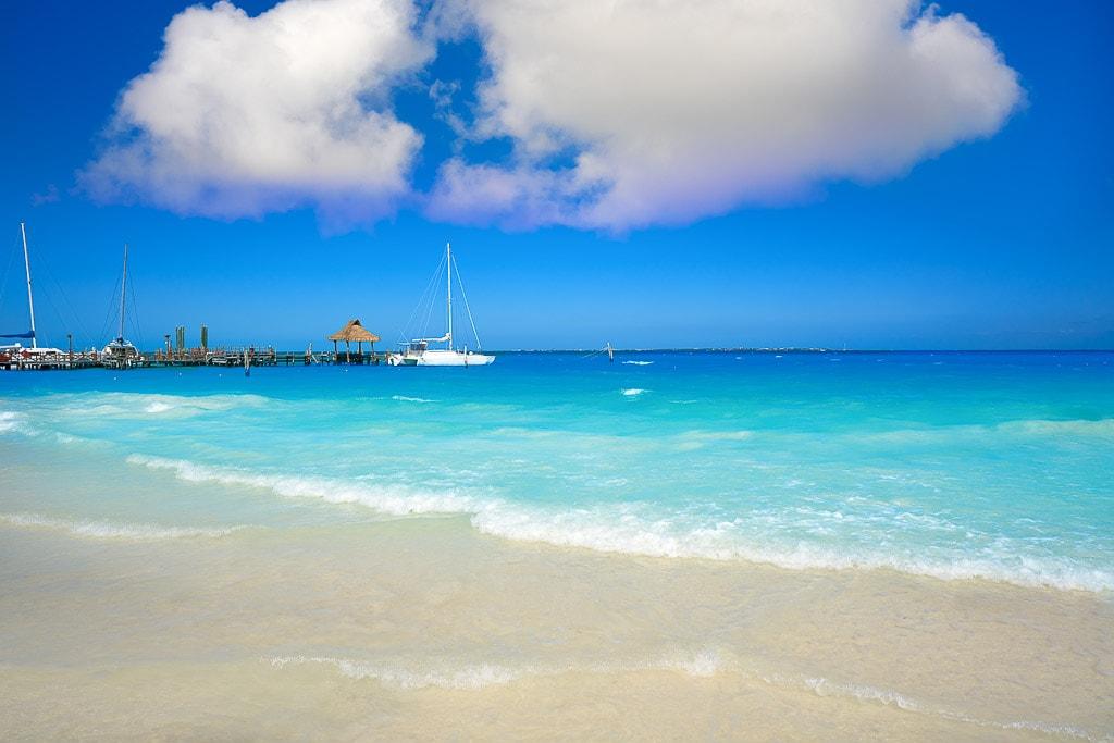 Cancun Playa Tortugas beach in Mexico