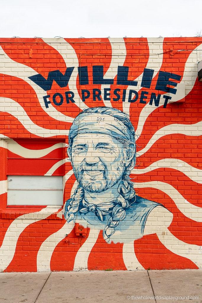 Willie for President Mural Best Murals in Austin